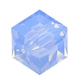 4 PC 8mm Swarovski Cube : Air Blue Opal