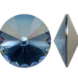 2 PC 14mm Swarovski Rivoli : Denim Blue Foil Back