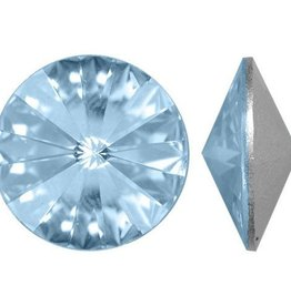 2 PC 14mm Swarovski Rivoli : Crystal Blue Shade Foil Back
