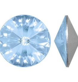 2 PC 14mm Swarovski Rivoli : Aquamarine Foil Back
