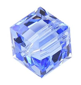 4 PC 6mm Swarovski Cube : Light Sapphire