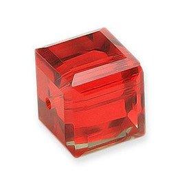 DISC 4 PC 4mm Swarovski Cube : Light Siam