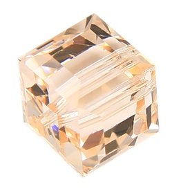 4 PC 4mm Swarovski Cube : Silk