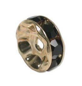 4 PC GP 4.5mm Rhinestone Rondell : Jet