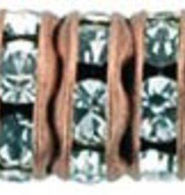 4 PC ACP 6mm Rhinestone Rondell : Crystal