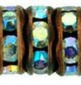 4 PC ACP 6mm Rhinestone Rondell : Crystal AB