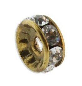 4 PC ABP 6mm Rhinestone Rondell : Crystal