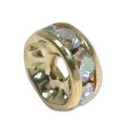 4 PC GP 8mm Rhinestone Rondell : Crystal AB