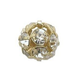 2 PC GP 8mm Rhinestone Balls : Crystal