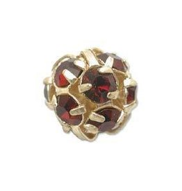 2 PC GP 8mm Rhinestone Balls : Garnet