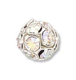 2 PC SP 10mm Rhinestone Balls : Crystal AB
