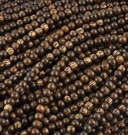 "10mm Round Pakitan Wood Bead 16"" Strand"