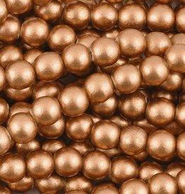 "8mm Round Copper Wood Bead 16"" Strand"