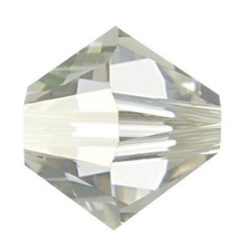24 PC 3mm Swarovski Bicone (5328) : Crystal Silver Shade