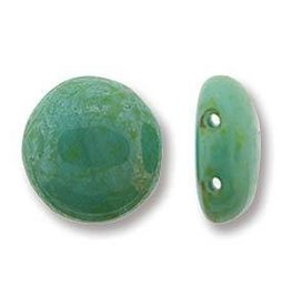 12 PC 12mm Candy Bead : Turquoise Green Travertine