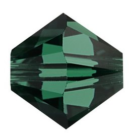 24 PC 3mm Swarovski Bicone (5328) : Emerald