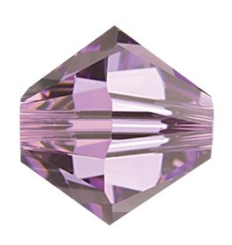 24 PC 3mm Swarovski Bicone (5328) : Light Amethyst