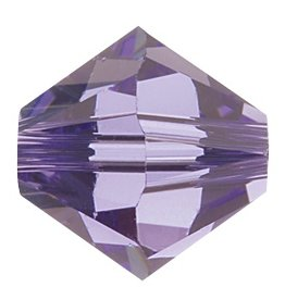 24 PC 3mm Swarovski Bicone (5328) : Tanzanite