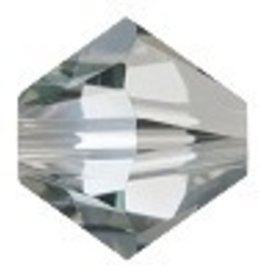 24 PC 4mm Swarovski Bicone (5328) : Crystal Satin