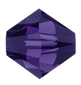 24 PC 4mm Swarovski Bicone (5328) : Purple Velvet