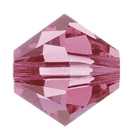24 PC 4mm Swarovski Bicone (5328) : Rose