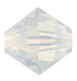12 PC 6mm Swarovski Bicone (5328) : White Opal