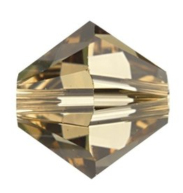 12 PC 6mm Swarovski Bicone (5328) : Light Colorado Topaz