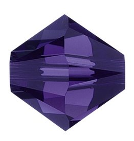 12 PC 6mm Swarovski Bicone (5328) : Purple Velvet