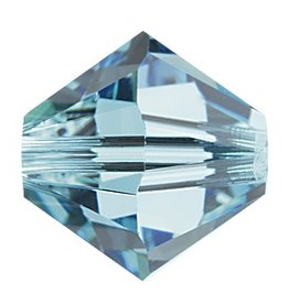 6 PC 8mm Swarovski Bicone (5328) : Aquamarine