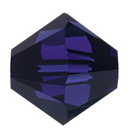 6 PC 8mm Swarovski Bicone (5328) : Dark Indigo