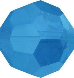12 PC 6mm Swarovski Round (5000) : Caribbean Blue Opal