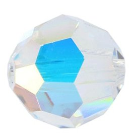 6 PC 8mm Swarovski Round (5000) : Crystal AB