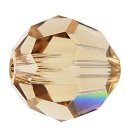 6 PC 8mm Swarovski Round (5000) : Light Colorado Topaz