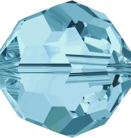 6 PC 8mm Swarovski Round (5000) : Aquamarine