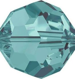 DISC 6 PC 8mm Swarovski Round (5000) : Blue Zircon