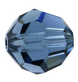 6 PC 8mm Swarovski Round (5000) : Montana Blue