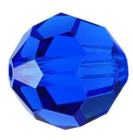 6 PC 8mm Swarovski Round (5000) : Capri Blue
