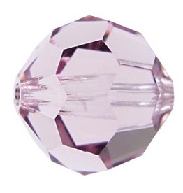 6 PC 8mm Swarovski Round (5000) : Light Amethyst