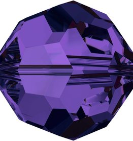 6 PC 8mm Swarovski Round (5000) : Purple Velvet