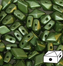 10 GM 5x8mm DiamondDuo™ 2 Hole Bead : Pastel Olivine (APX 65 PCS)