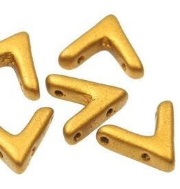 10 PC 10x4mm AVA® Bead : Brass Gold