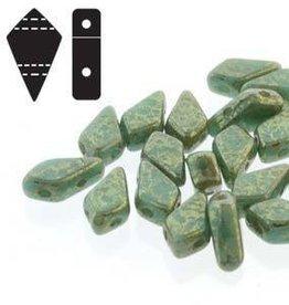 10 GM 9x5mm 2 Hole Kite : Turquoise Green Lumi (APX 45 PCS)