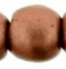 100 PC 2mm Round : Matte Metallic Bronze Copper