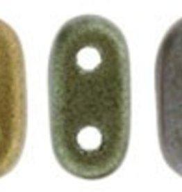 10 GM 2x6mm 2 Hole Bar : Matte Metallic Bronze Iris (APX 140 PCS)