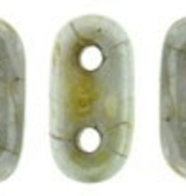 10 GM 2x6mm 2 Hole Bar : Opaque Green Ultra Luster (APX 140 PCS)