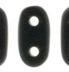 10 GM 2x6mm 2 Hole Bar : Matte Jet (APX 140 PCS)