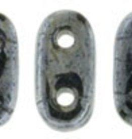 10 GM 2x6mm 2 Hole Bar : Hematite (APX 140 PCS)