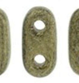 10 GM 2x6mm 2 Hole Bar : Metallic Suede Gold (APX 140 PCS)