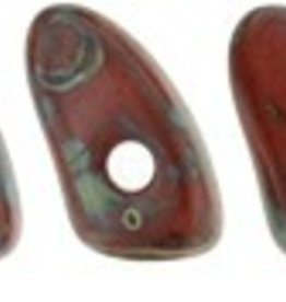 10 GM 3x6mm Prong : Opaque Red Picasso (APX 110 PCS)