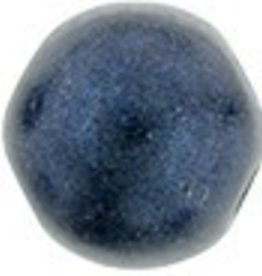 10 GM 7mm Cabochon : Metallic Suede Dark Blue (APX 25 PCS)